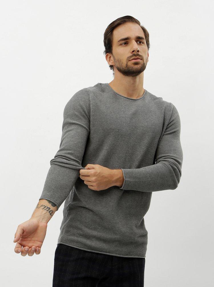 Šedý basic svetr Selected Homme Rocky
