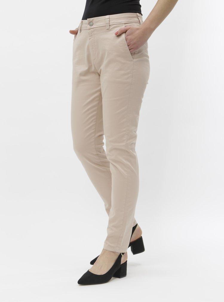 Světle růžové chino kalhoty Selected Femme Megan