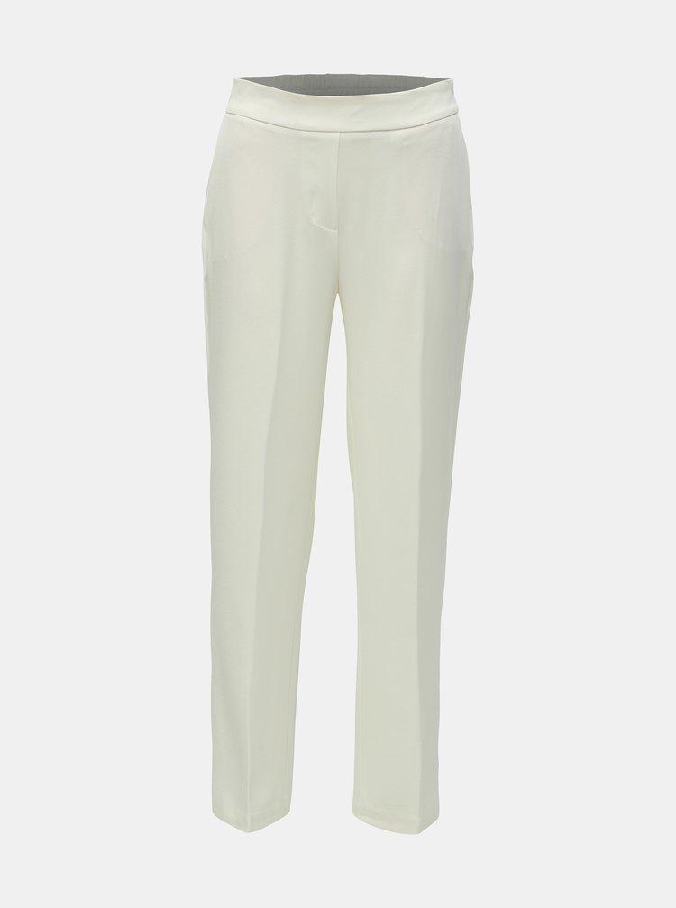 Krémové kostýmové kalhoty s vysokým pasem AWARE by VERO MODA Gemma