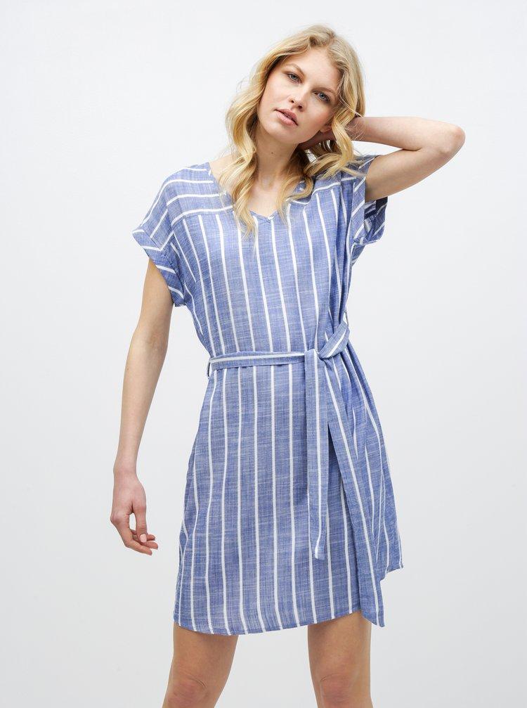 Modré pruhované šaty Jacqueline de Yong Janine