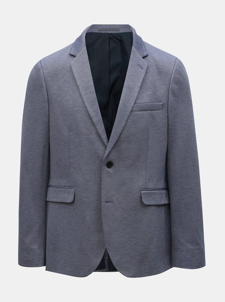 Modré sako Burton Menswear London
