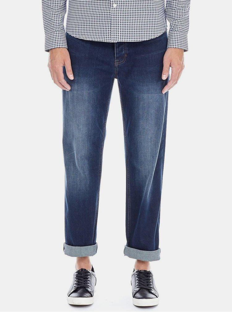 Tmavě modré straight fit džíny Burton Menswear London