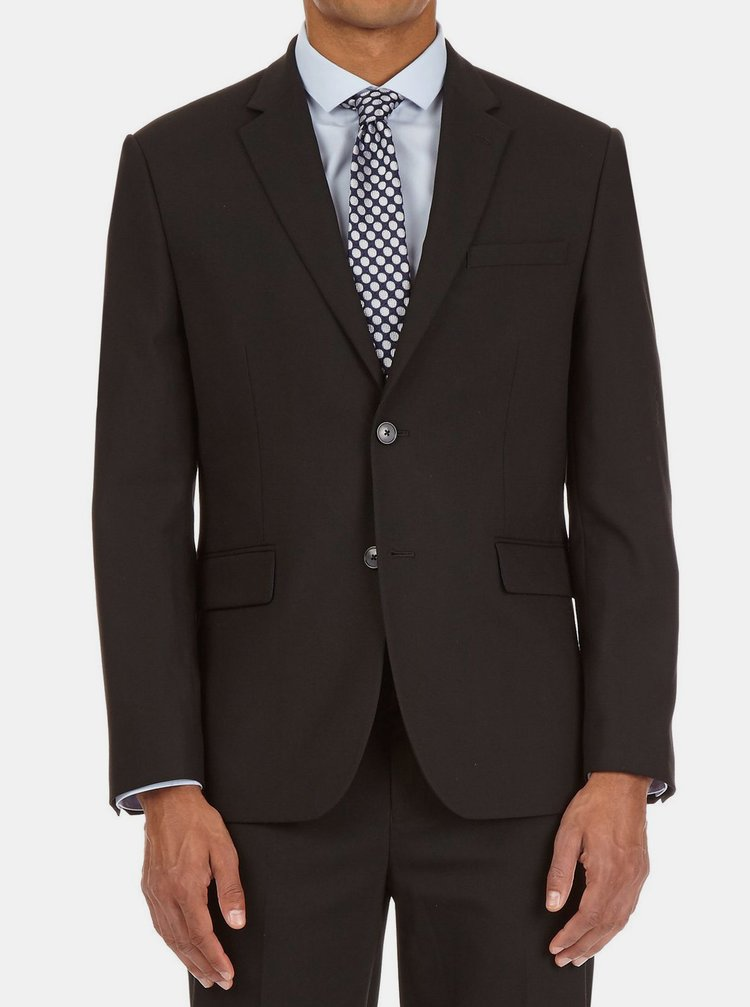 Černé tailored fit sako Burton Menswear London