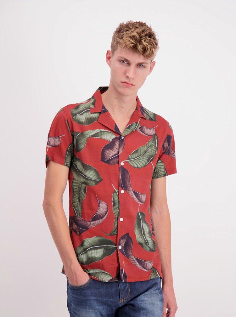 Červená vzorovaná košile Shine Original