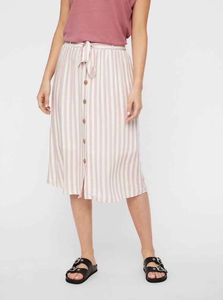 Bílo-růžová pruhovaná sukně AWARE by VERO MODA Hailey