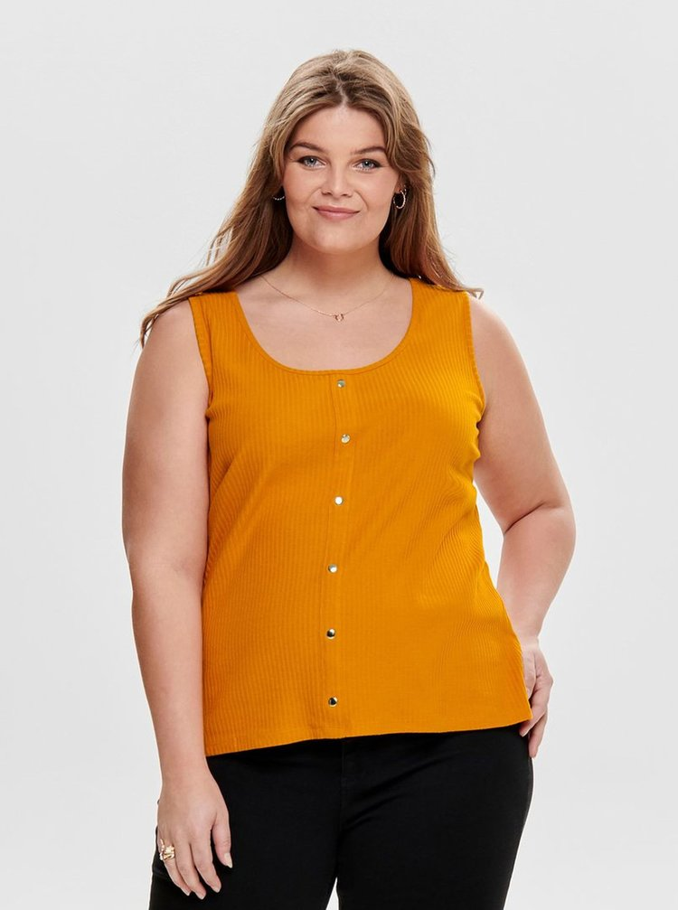Oranžový top ONLY CARMAKOMA Diona