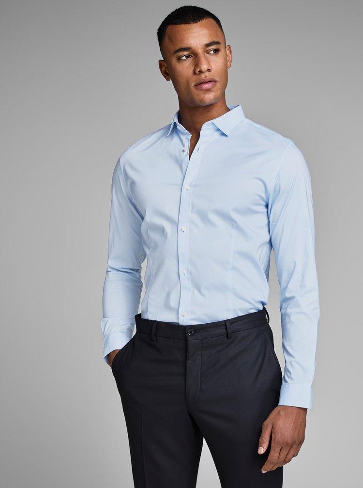 Světle modrá formální super slim fit košile Jack & Jones Parma
