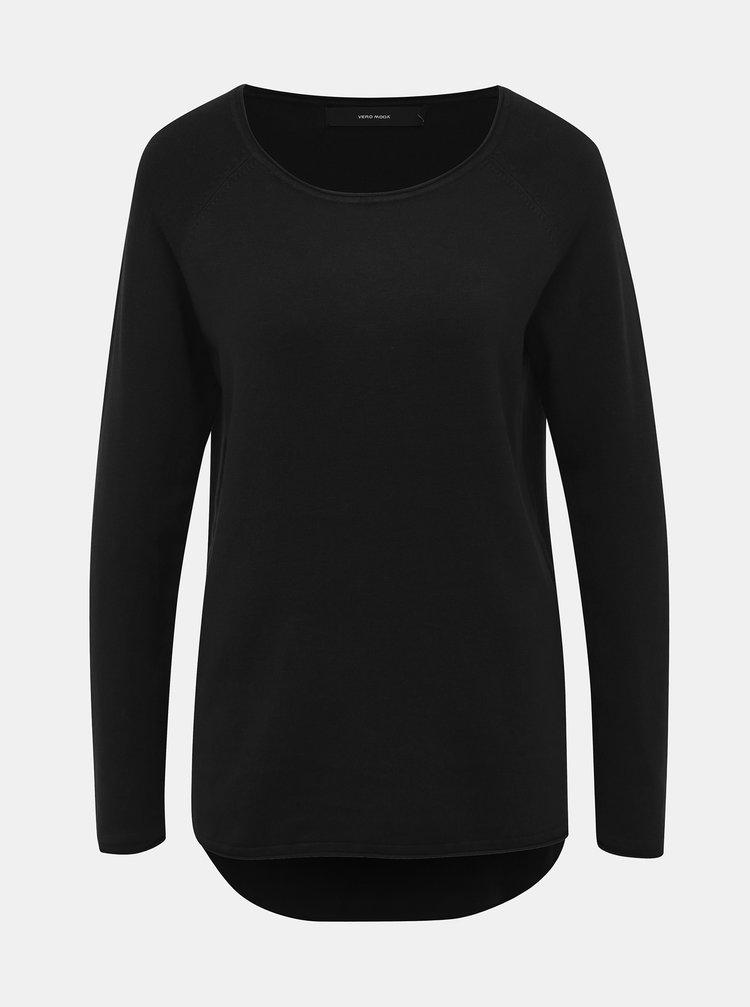 Čierny ľahký basic sveter VERO MODA Ellie Glory