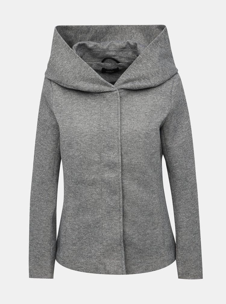 Šedý krátký kabát ONLY Sedona