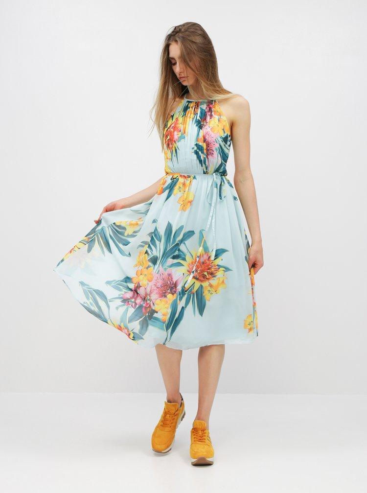 Svetlomodré kvetované midišaty Dorothy Perkins