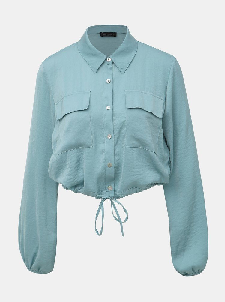 Modrá krátká košile TALLY WEiJL