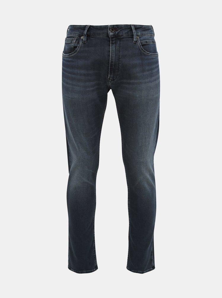 Tmavě modré pánské tapered fit džíny Pepe Jeans Stanley Night