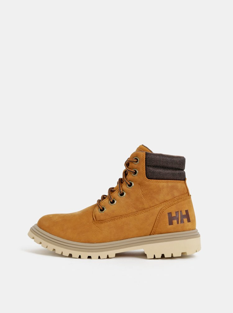 Hnědé dámské semišové nepromokavé kotníkové boty HELLY HANSEN Fremont