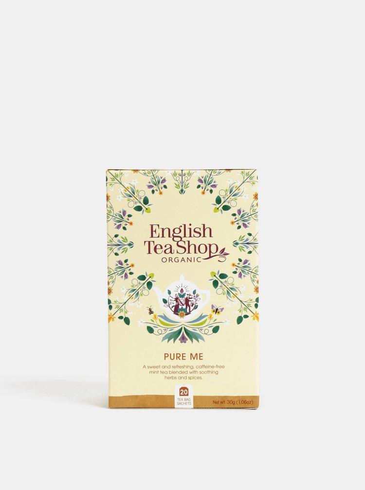 Organický bylinný čaj s mätou klasnatou, řeckým senem pískavice, fenyklovými semínky a květem bezu English Tea Shop Očisti mě
