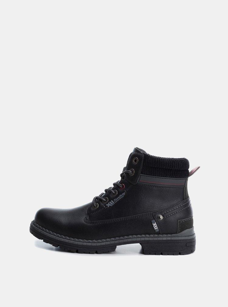 Čierne pánske členkové šnúrovacie topánky Xti