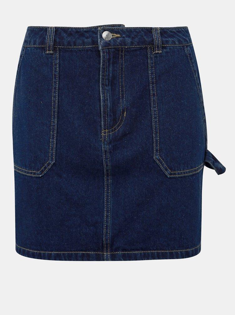 Modrá džínová sukňa VERO MODA Lili