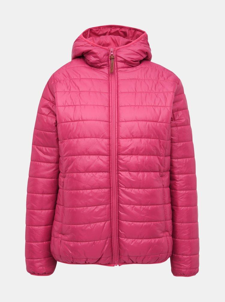 Růžová dámská voděodpudivá prošívaná bunda SAM 73