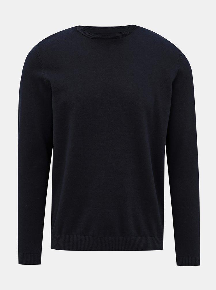 Tmavomodrý basic sveter Jack & Jones Basic