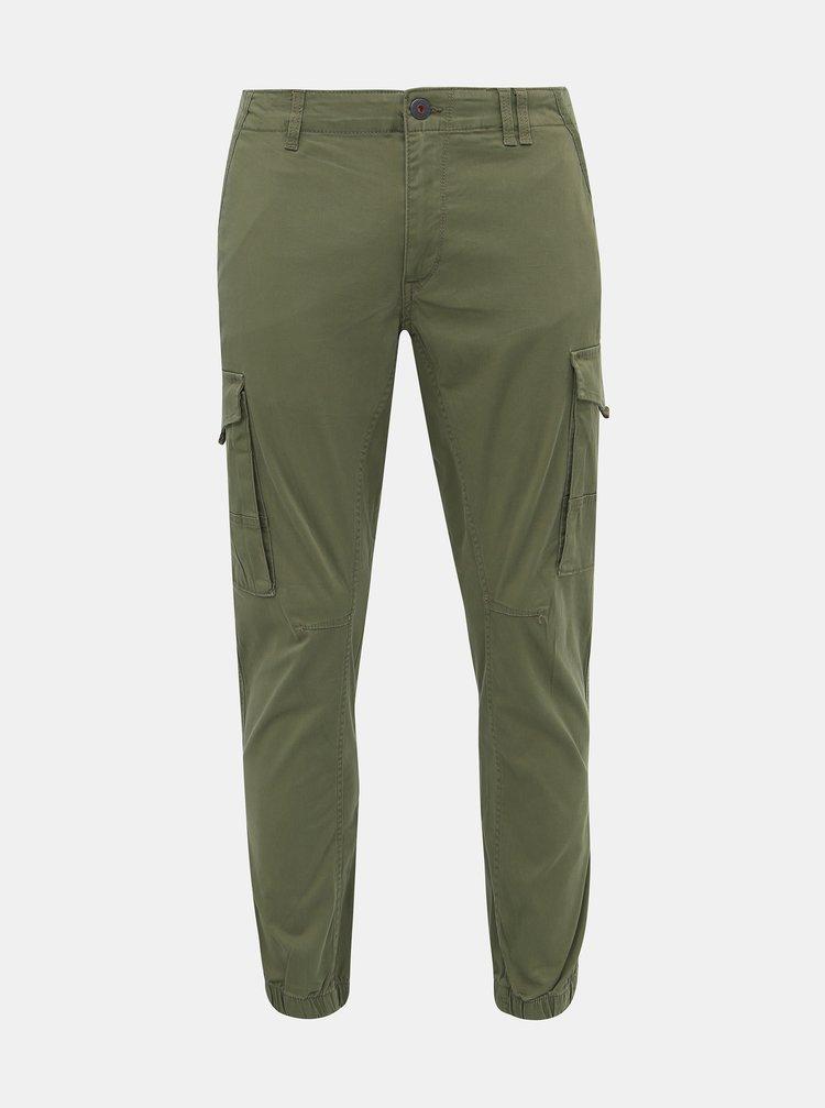 Zelené tapered nohavice Jack & Jones Paul