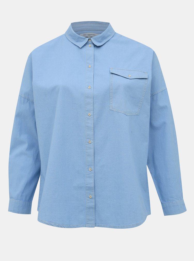 Světle modrá džínová košile ONLY CARMAKOMA Mala