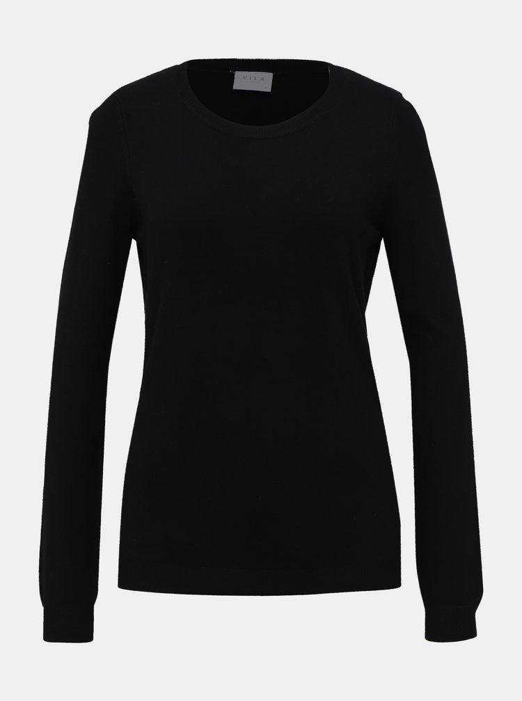 Čierny basic sveter VILA Bolonia
