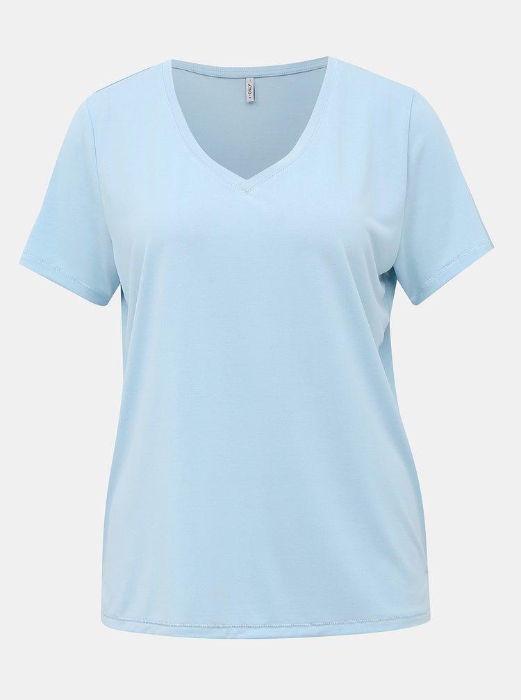 Světle modré basic tričko ONLY Free Life