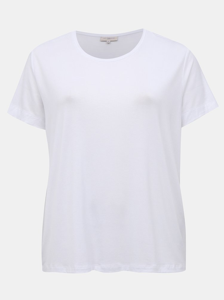 Bílé basic tričko ONLY CARMAKOMA