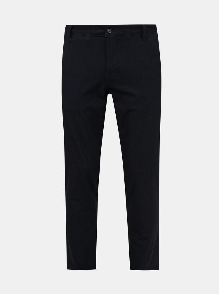 Čierne slim fit nohavice Selected Homme Flex