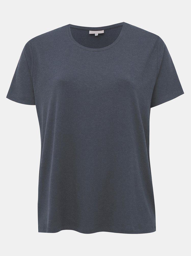 Tmavě modré basic tričko ONLY CARMAKOMA