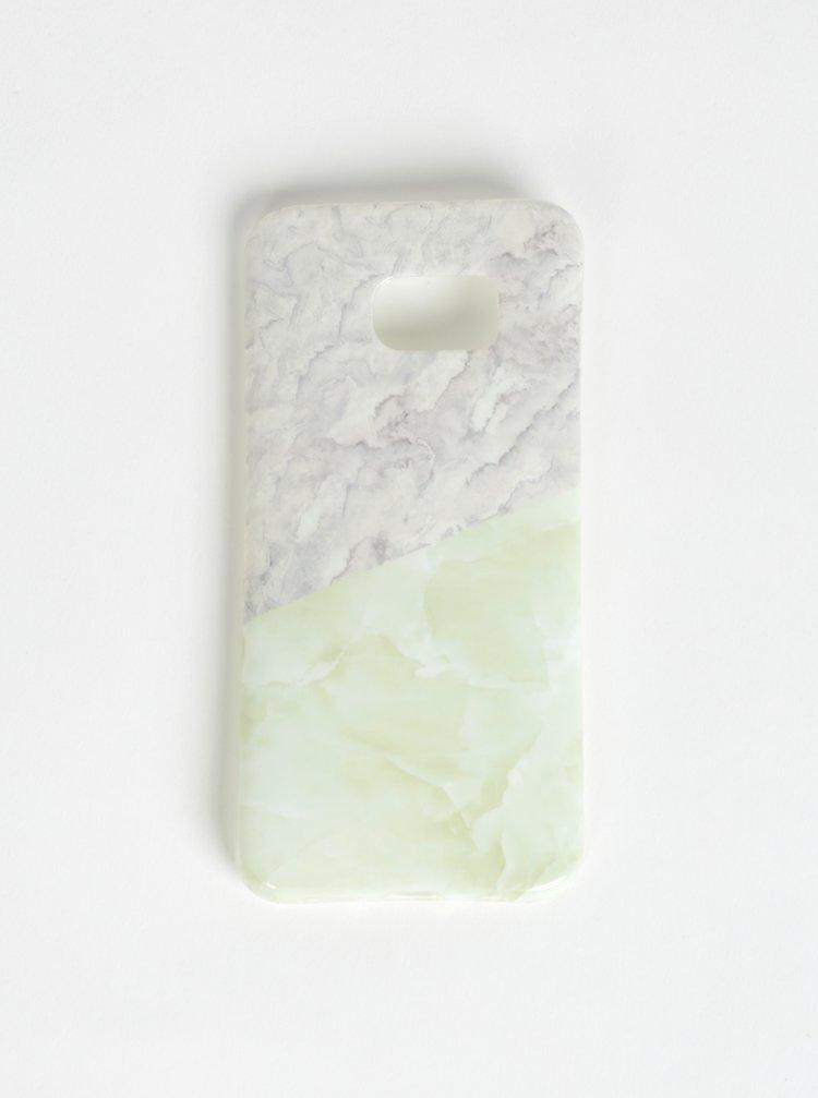 Svetlozelený vzorovaný obal na Samsung S7 Edge Haily´s Marbel