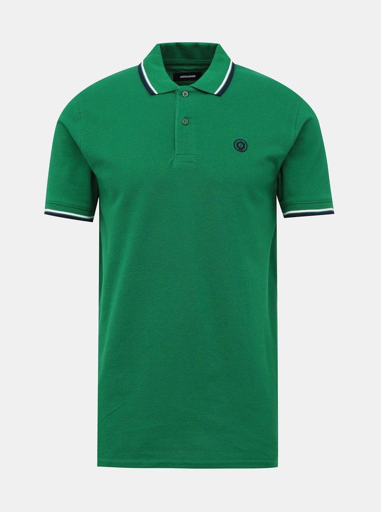 Zelené polo tričko Jack & Jones Noah