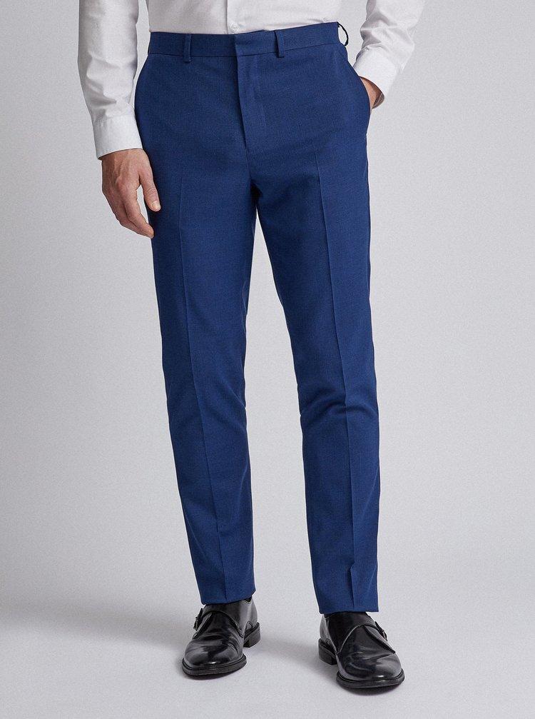 Modré oblekové slim fit kalhoty Burton Menswear London