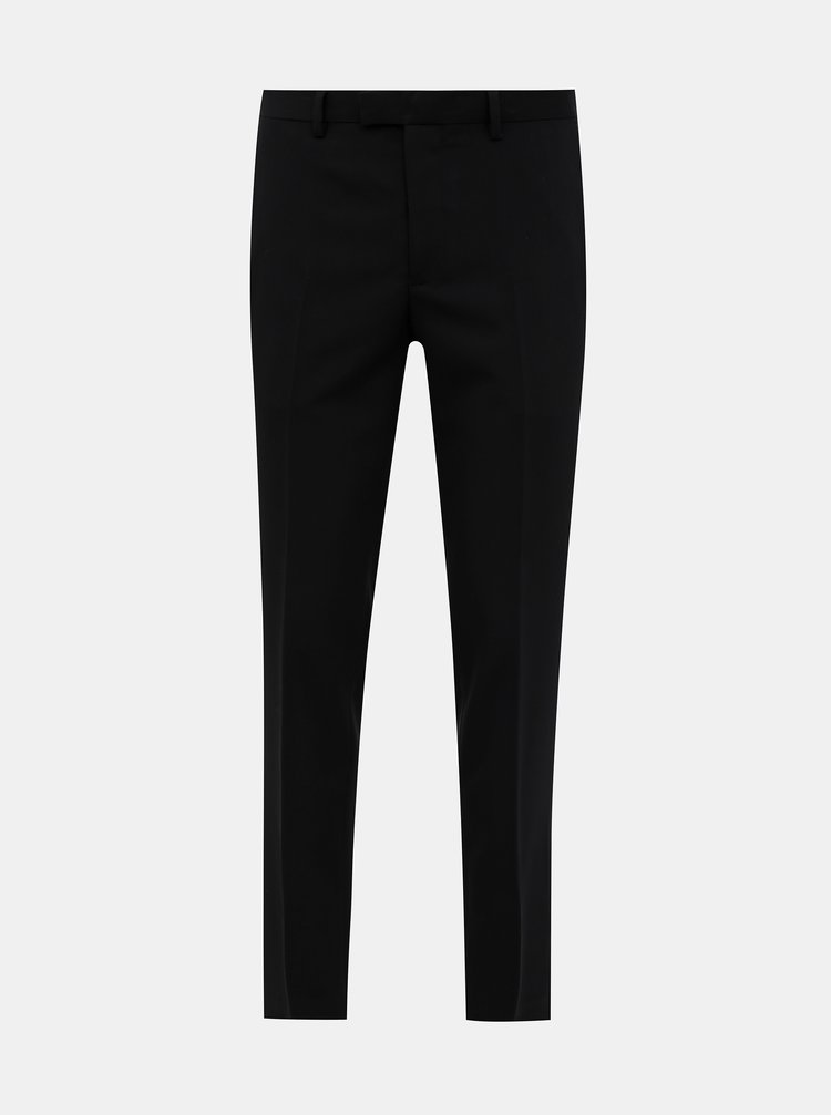 Černé oblekové slim fit kalhoty Jack & Jones VIncent