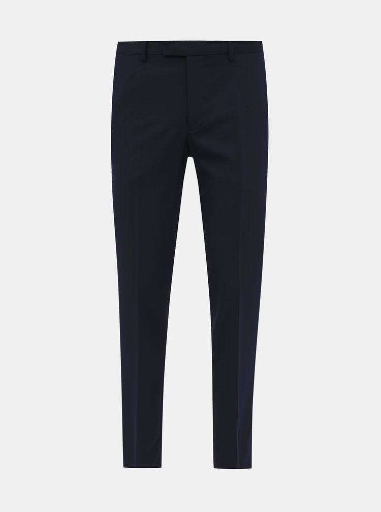 Tmavě modré oblekové slim fit kalhoty Jack & Jones VIncent