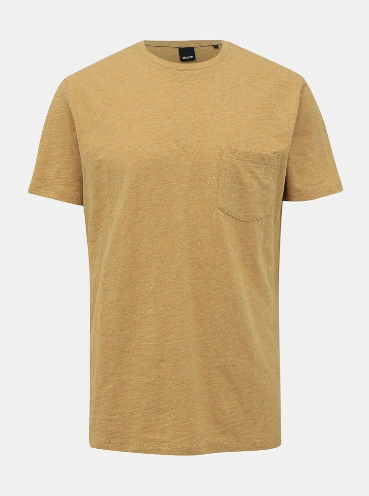 Žlté pánske basic tričko ZOOT Brandon