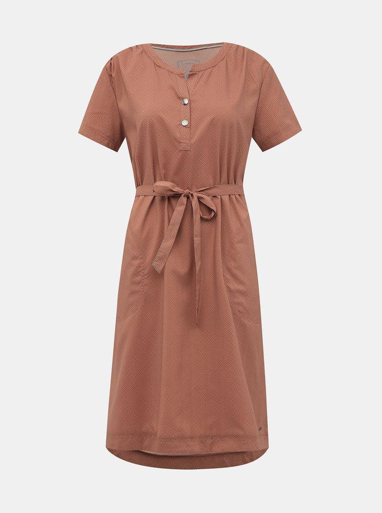 Cihlové vzorované šaty killtec Ebba