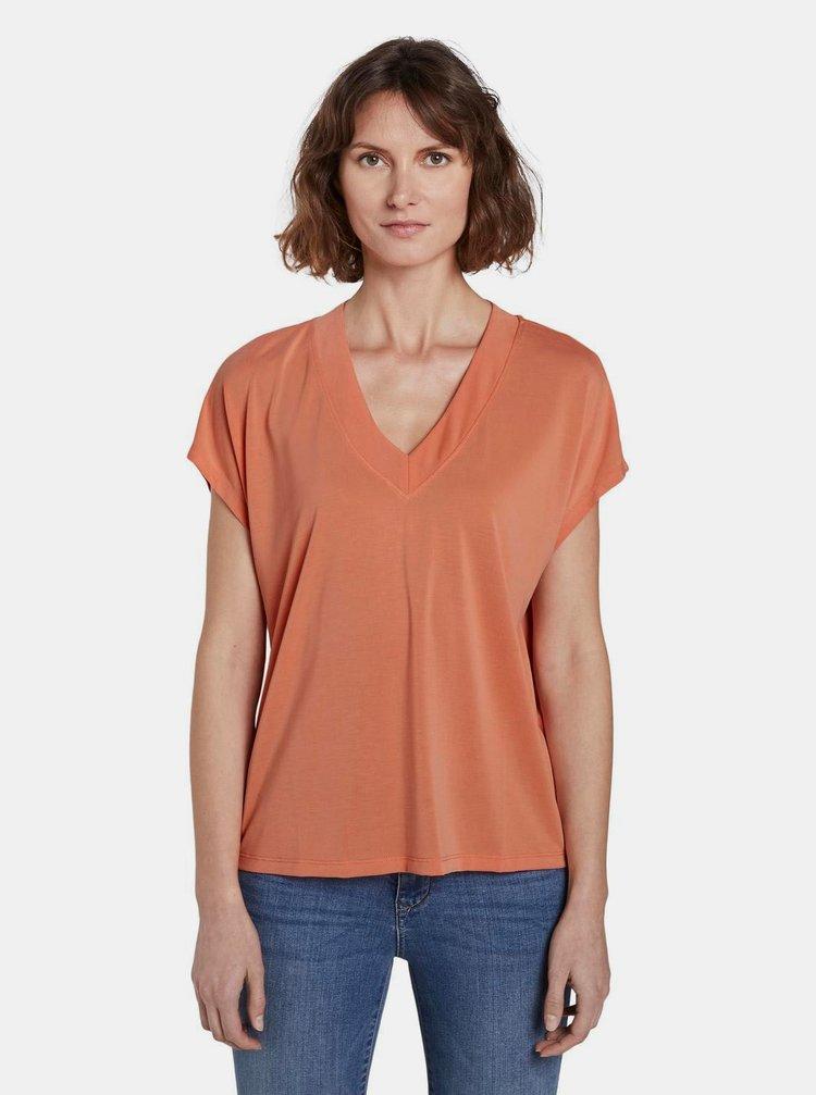 Oranžové dámske tričko Tom Tailor