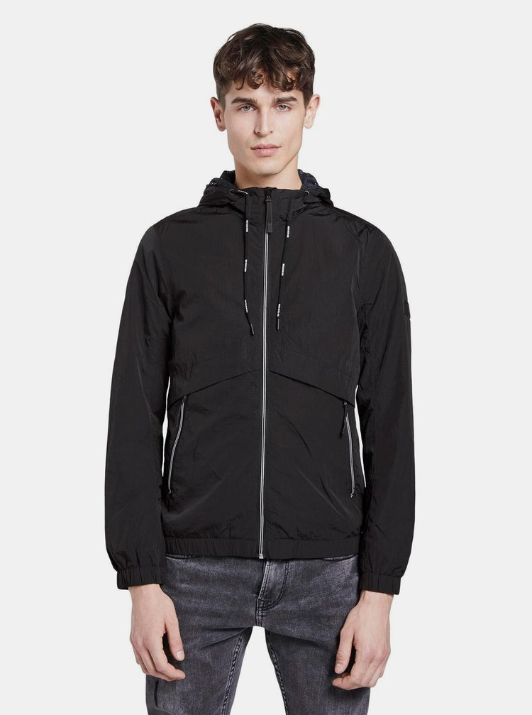 Čierna pánska vodeodpudivá bunda Tom Tailor Denim