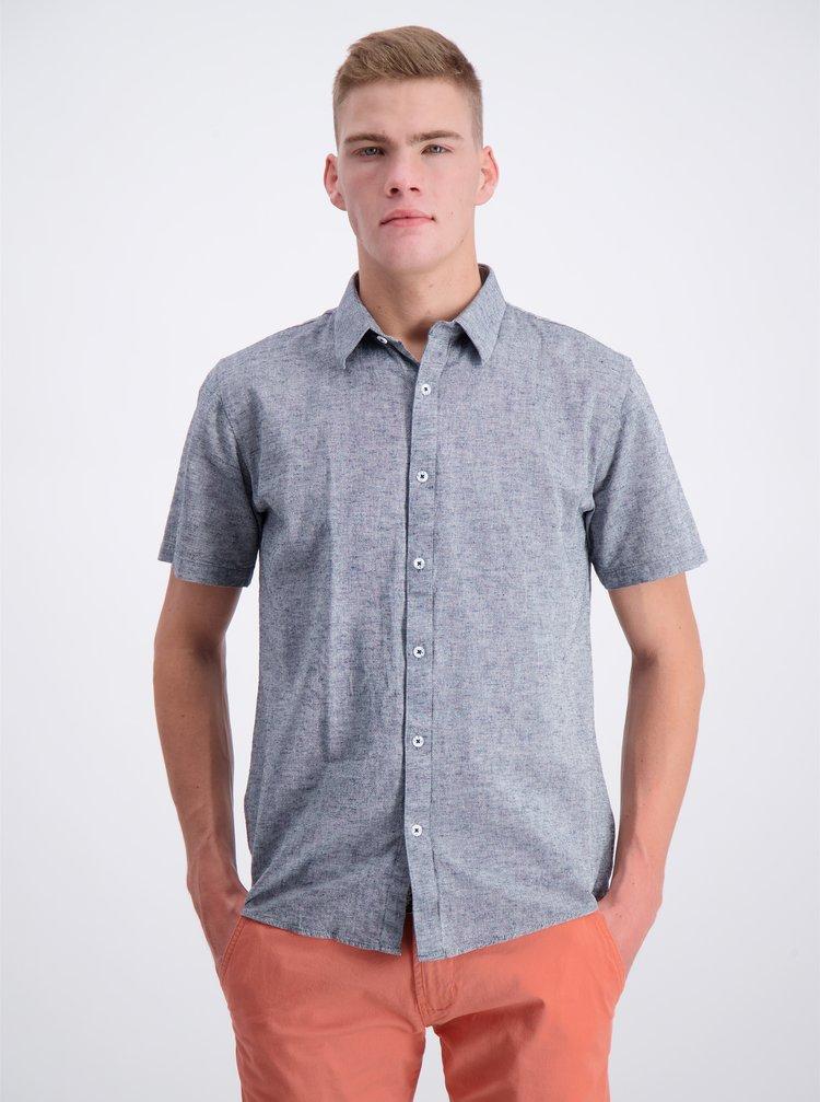Šedá košile s příměsí lnu Shine Original