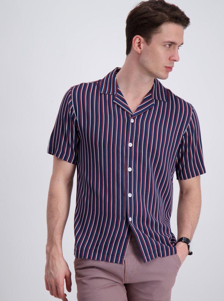 Tmavě modrá pruhovaná košile Lindbergh