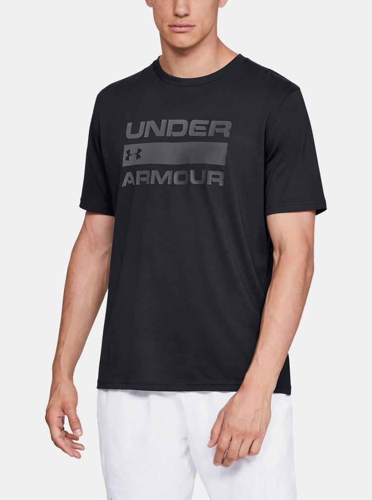 Černé pánské tričko Team Issue Wordmark Under Armour