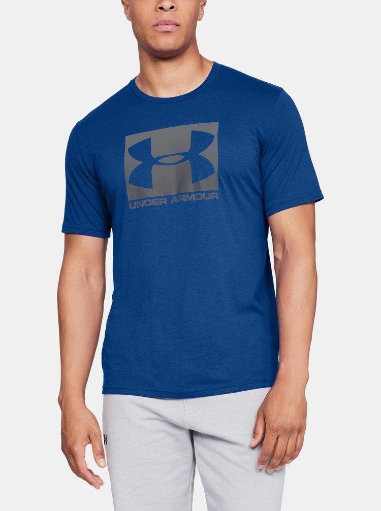 Modré pánské tričko Boxed Under Armour