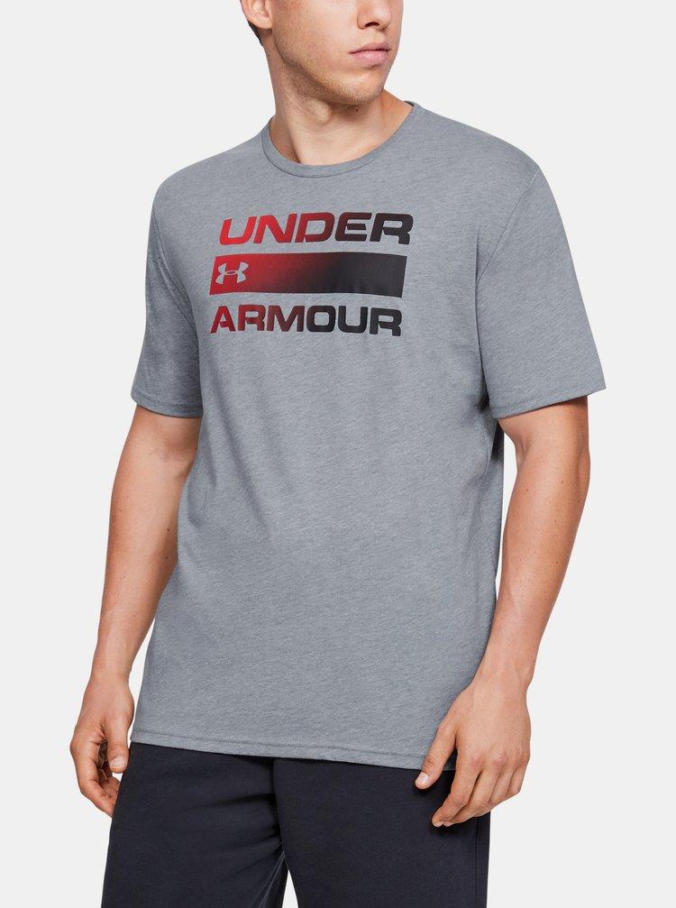 Šedé pánské tričko Team Issue Wordmark Under Armour