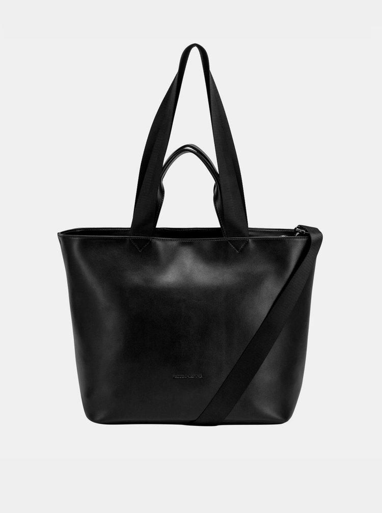 Černá kožená kabelka Smith & Canova Tote