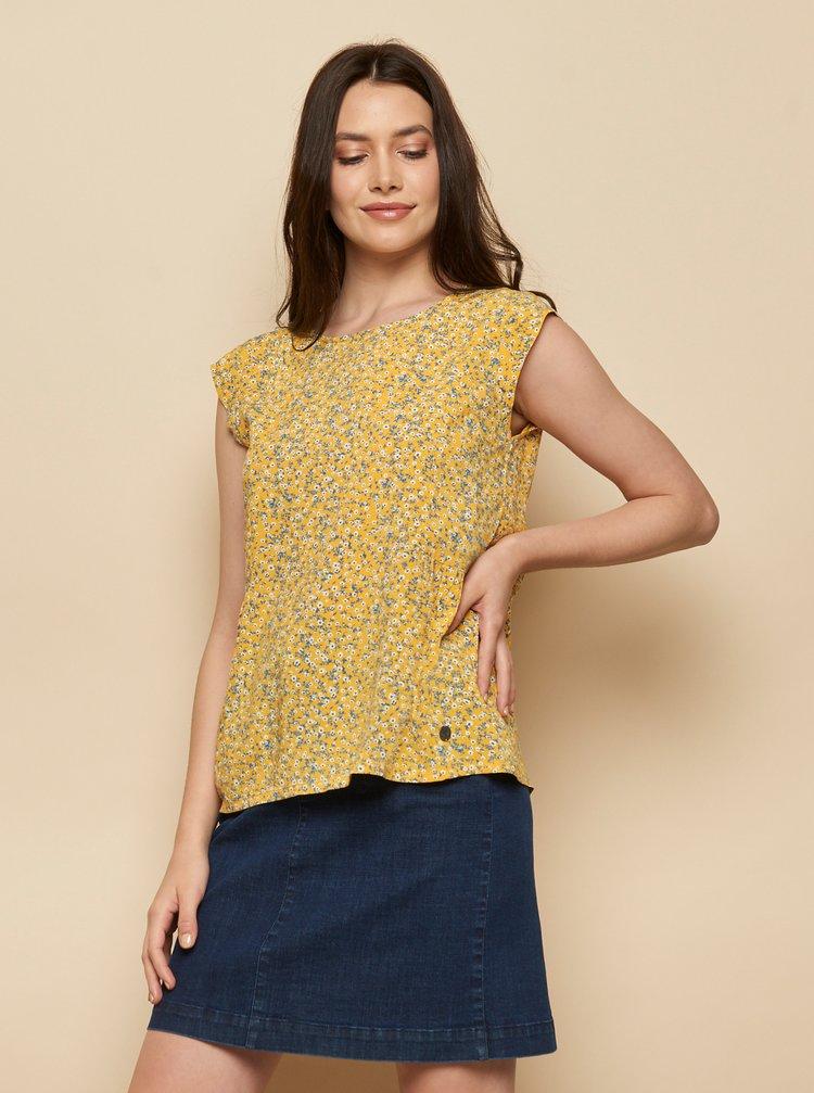 Žlutá květovaná halenka Tranquillo Almaz