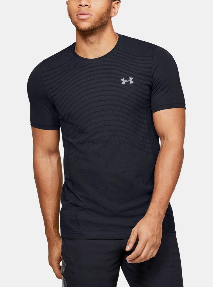Čierné pánské tričko Seamless Wave Under Armour