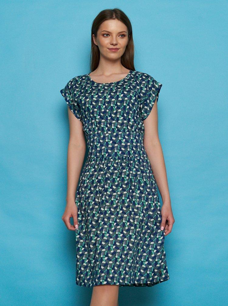 Zeleno-modré vzorované šaty Tranquillo Sua