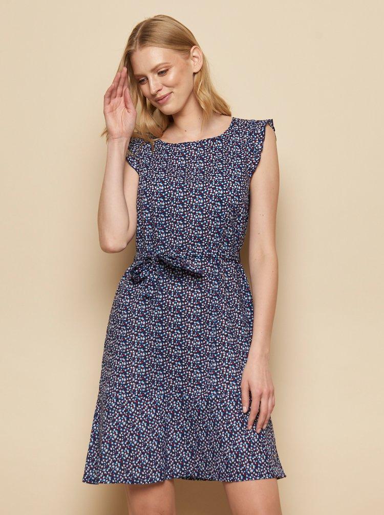 Tmavě modré vzorované šaty Tranquillo Madje