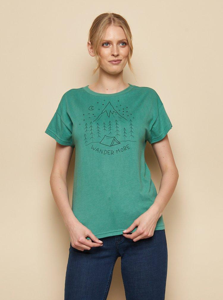Zelené tričko s potlačou Tranquillo Kunto
