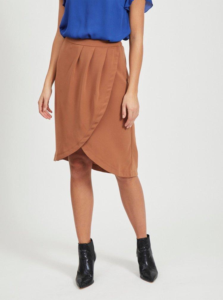 Hnedá sukňa VILA Nahla